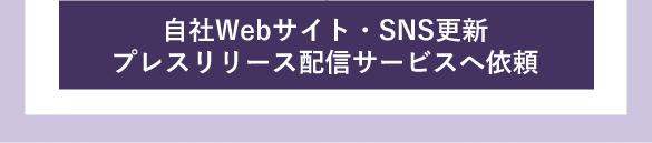 自社Webサイト・SNS更新プレスリリース配信サービスへ依頼